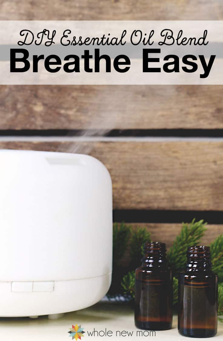 "Essential Oils for Cough - This DIY Essential Oils Blend really works to relieve congestion and coughing. Try this ""Breathe Easy"" blend the next time you or one of your kids are sick!"