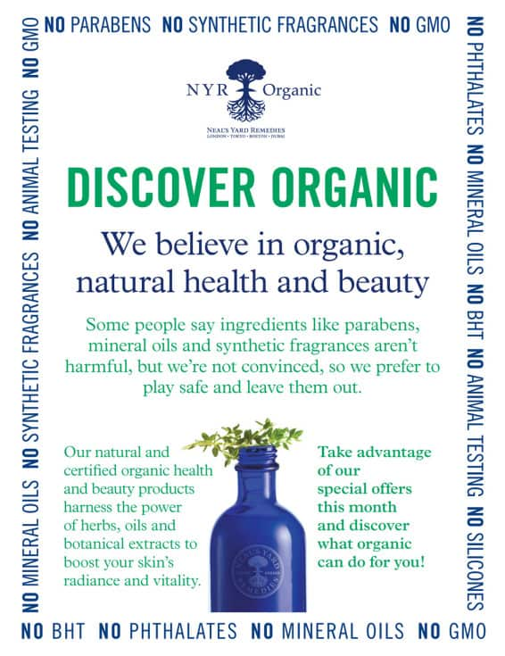 Discover Organic - NYR Organic - Neal's Yard Remedies