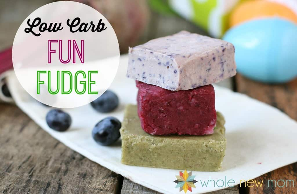 This Fun Vegan Fudge is great to make with your kids. A low carb fudge full of healthy ingredients and Lovely Natural Colors - no Chemical ICK!