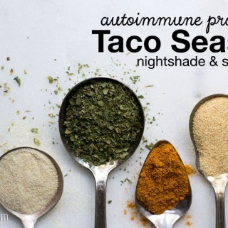 One of my go-to seasonings for just about anything is taco seasoning – but what if you're nightshade-free and seed-free? This autoimmune paleo protocol taco seasoning is packed with the taco flavor you love, but it's AIP compliant!