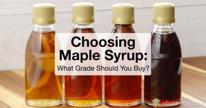bottles of different grades of maple syrup - how to choose maple syrup