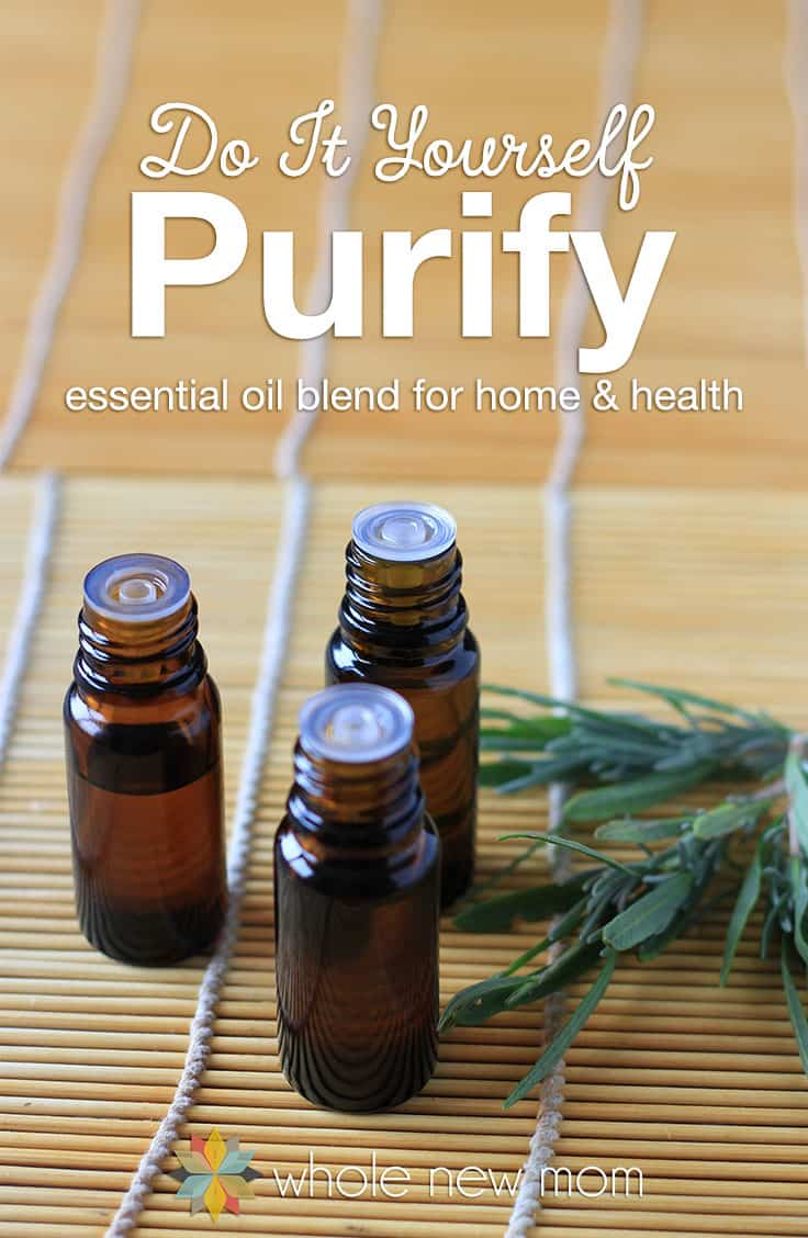 This DIY Purify Blend is great for cleaning the air from toxins, odors, and more – plus it's great for treating wounds too! It really worked on off-gassing issues we had at our home – no more stink! Save money by making this homemade purification EO blend.