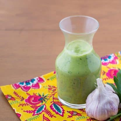 If you love avocados, you'll love this Creamy Avocado Dressing Recipe - it's dairy-free, low carb, and AIP too, and has none of the toxic ingredients found in store bought dressings.