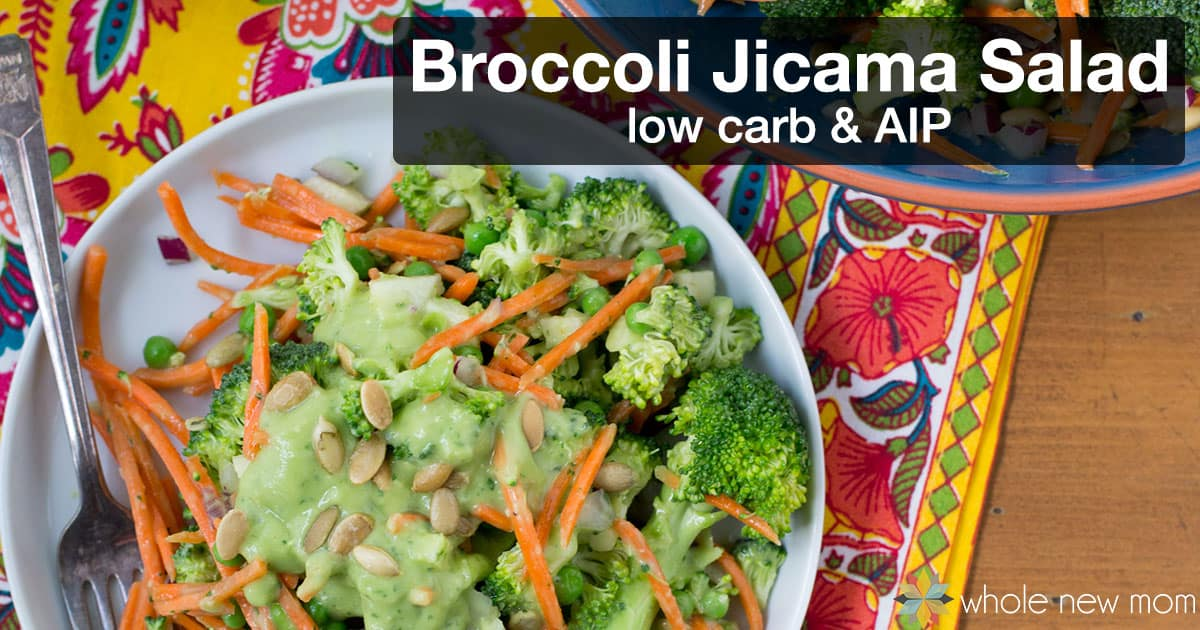 Need to get more veggies in your diet? This Broccoli Salad with Jicama is loaded with crunchy nutrition and gets you out of a salad rut.