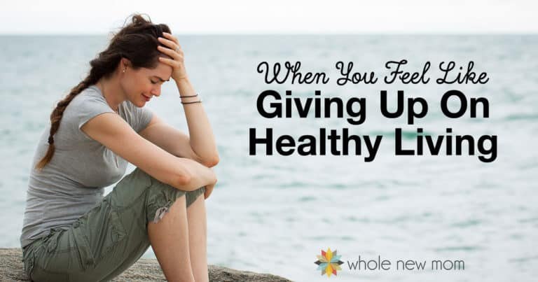 What can you do when you feel liking give up on being healthy? Here are some things that have helped keep me motivated to keep on keeping on.