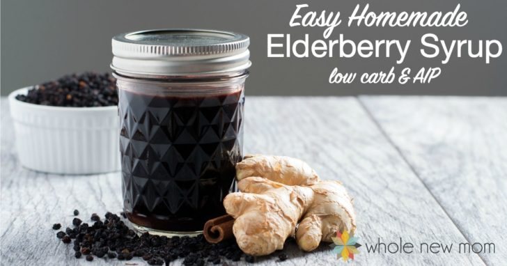 Easy Homemade Elderberry Syrup – low carb & AIP