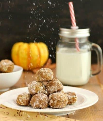Pumpkin Pie Snowball Cookies