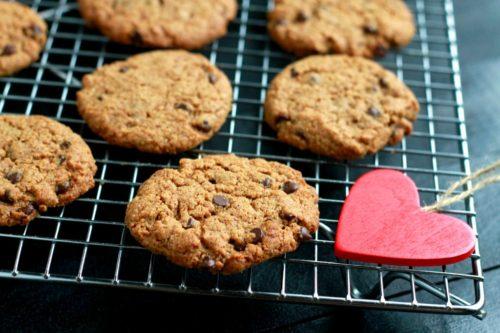 Flourless Peppermint Chocolate Chip Cookies