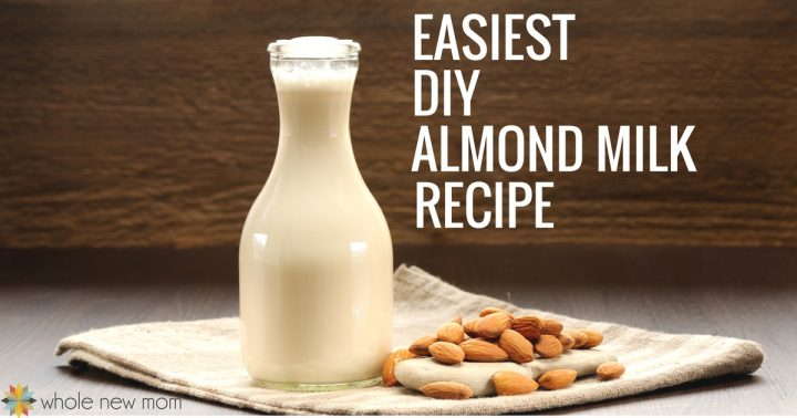 Homemade Almond Milk in Carafe