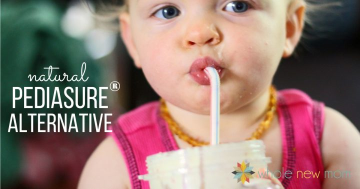 Baby drinking Meal Replacement Drink