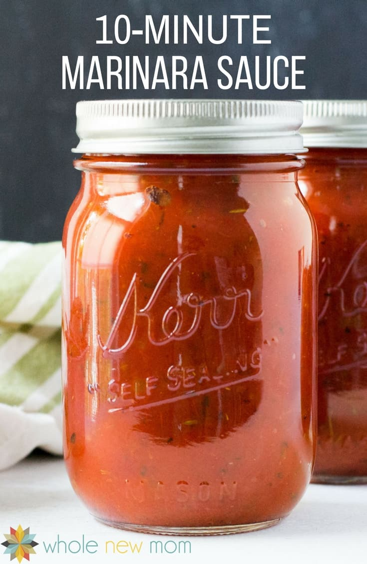 Quick and Easy Marinara Sauce -- it's just perfect for pasta, zoodles, pizza, veggies and more!