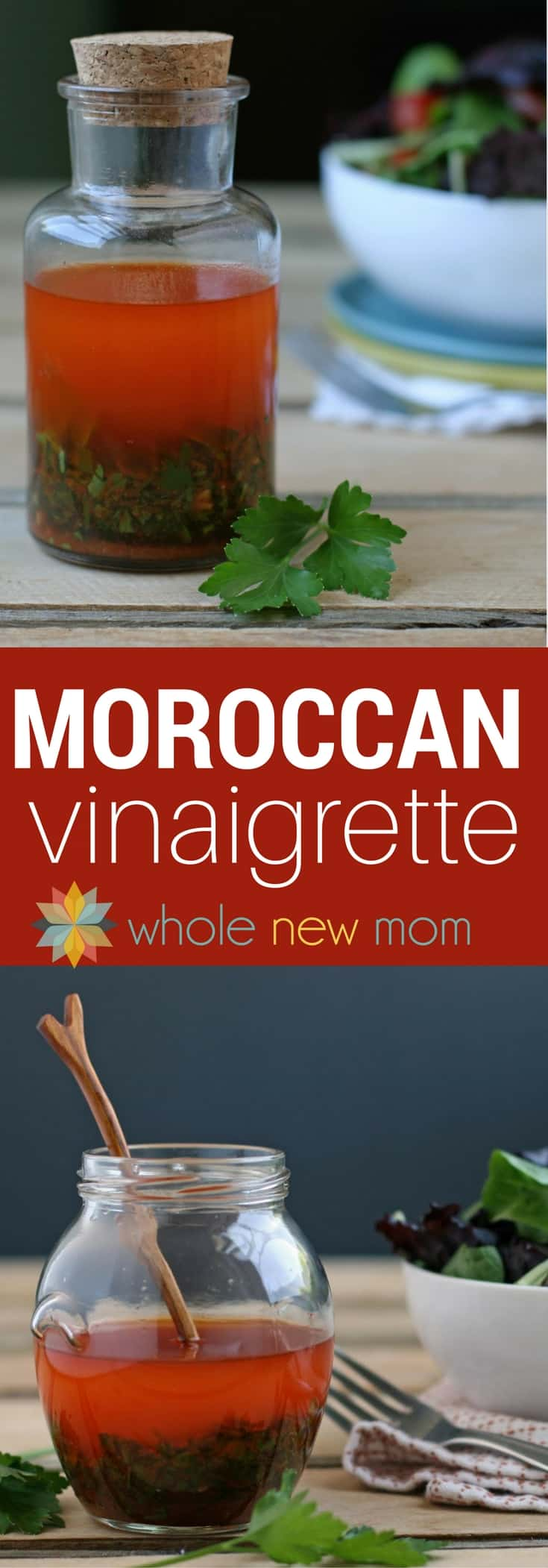 This Moroccan Vinaigrette is on our table for every meal--it's that good! And it's not just for salads. It's great on sides & main dishes too! #paleo #vegan #healthy #easy #lowcarb #keto