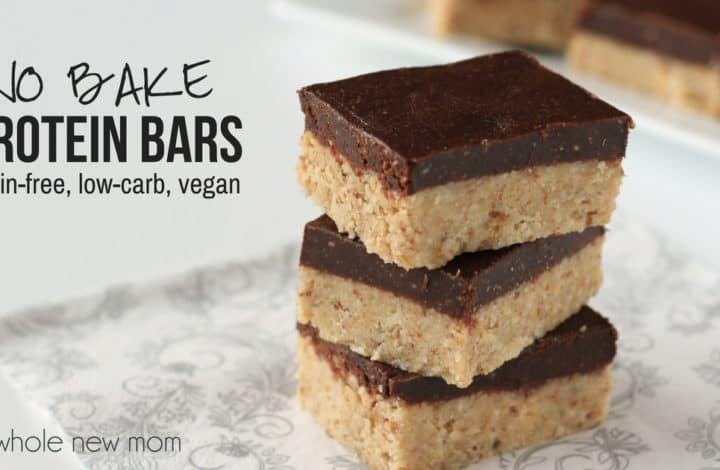 Grain-Free No-Bake Protein Bars – low carb, vegan, gluten free