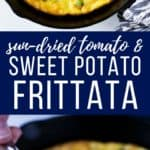 This Sweet Potato Frittata has comes together super fast since you can prepare some ingredients ahead of time. The perfect easy meal.