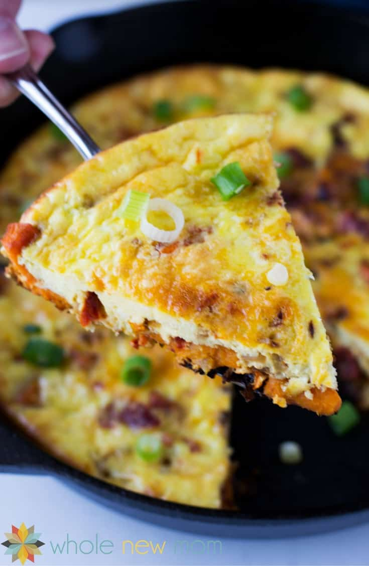 This Sweet Potato Frittata has comes together super fast since you can ...