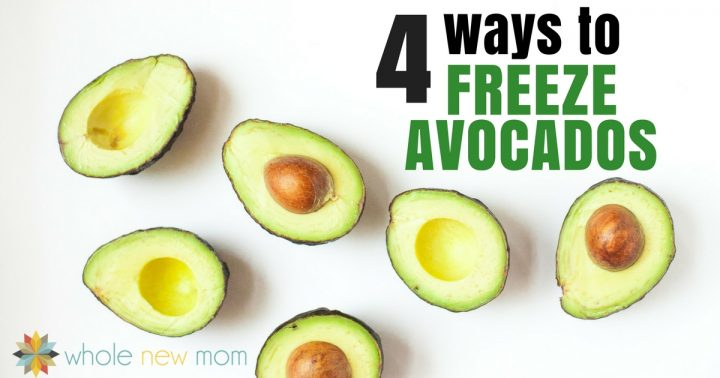 Avocados Cut in Half -- Freezing Avocados - how to freeze avocados