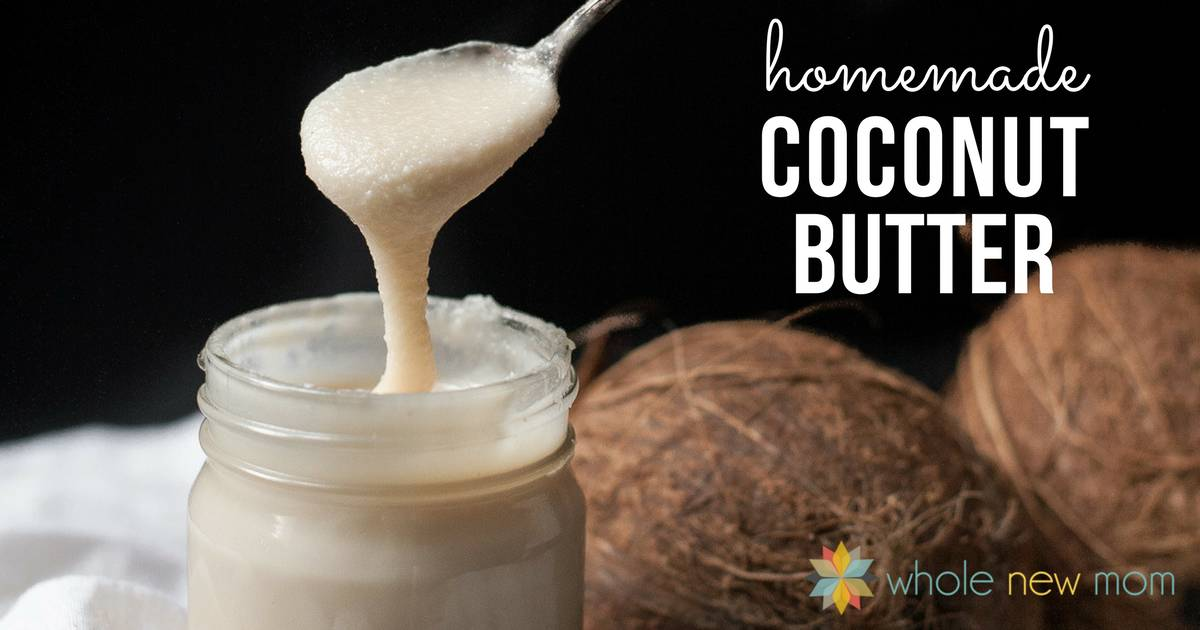 This Homemade Coconut Butter is sooo easy - you'll never think about buying it again! It's used in many dairy-free recipes, and also tastes great as a spread, or plain on a spoon :)