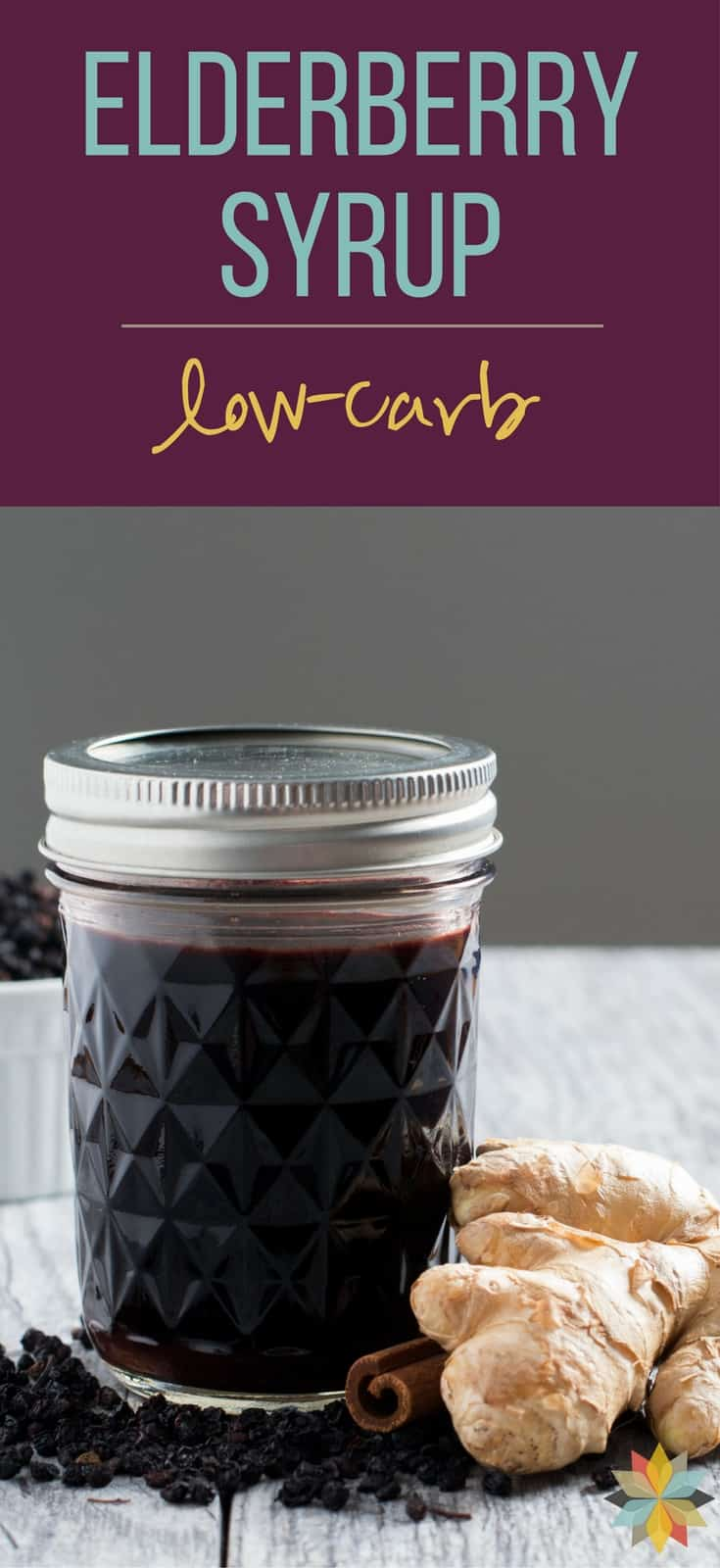 Easy Homemade Elderberry Syrup - low carb option. Just what you need to boost your immune system to stay healthy and keep germs away!