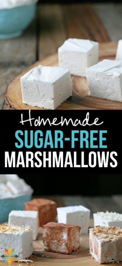 These Homemade Marshmallows are super fun to make and have no artificial flavors or colors. Make them sugar free for a low carb treat.
