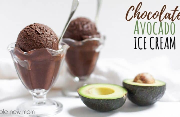 Avocado Chocolate Ice Cream - vegan, low carb, AIP, THM:S