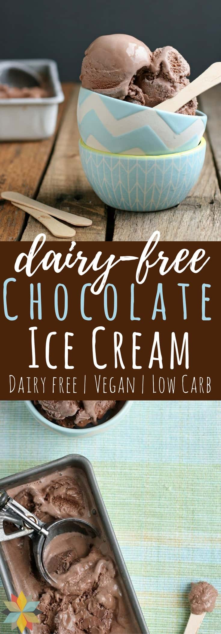 Chocolate Coconut Milk Ice Cream - vegan, dairy free, low carb, AIP, and THM:S!