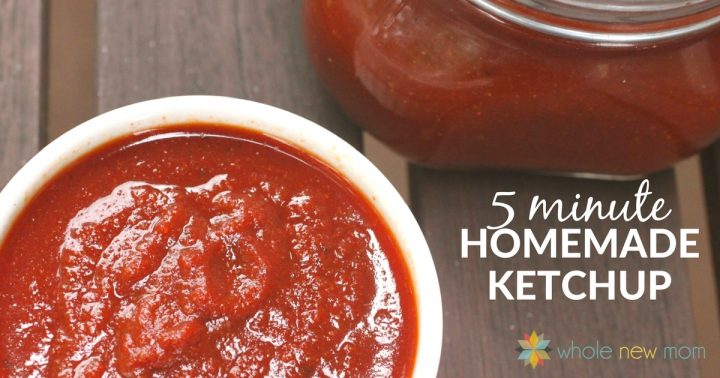 homemade ketchup in white ramekin