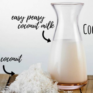 Easiest Homemade Coconut Milk
