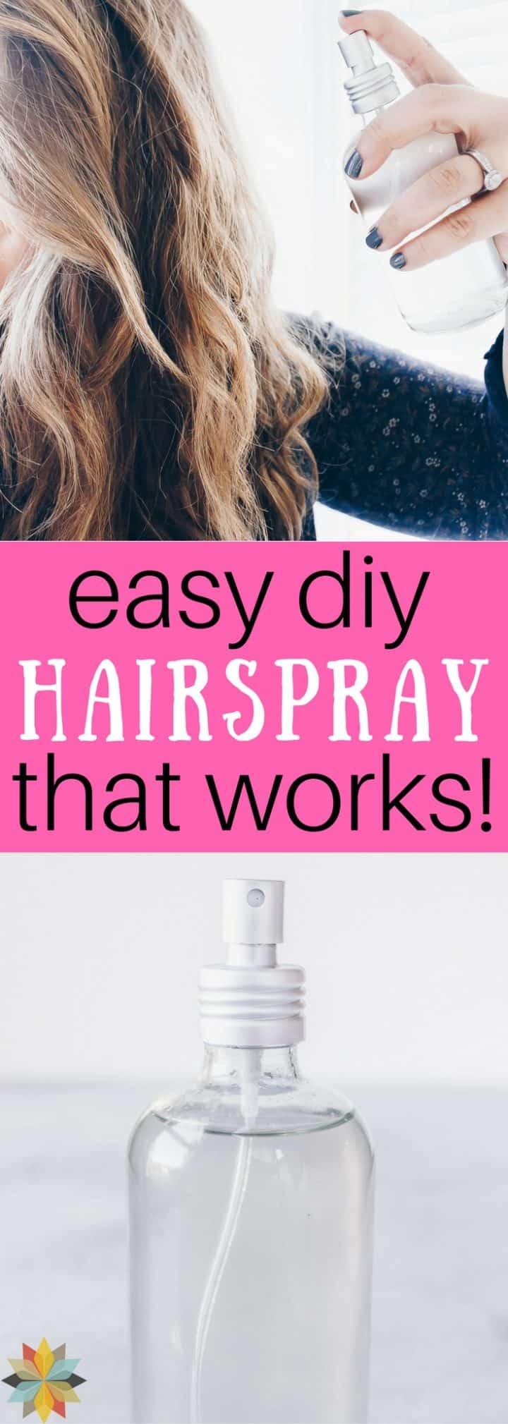 Easy Homemade Hairspray