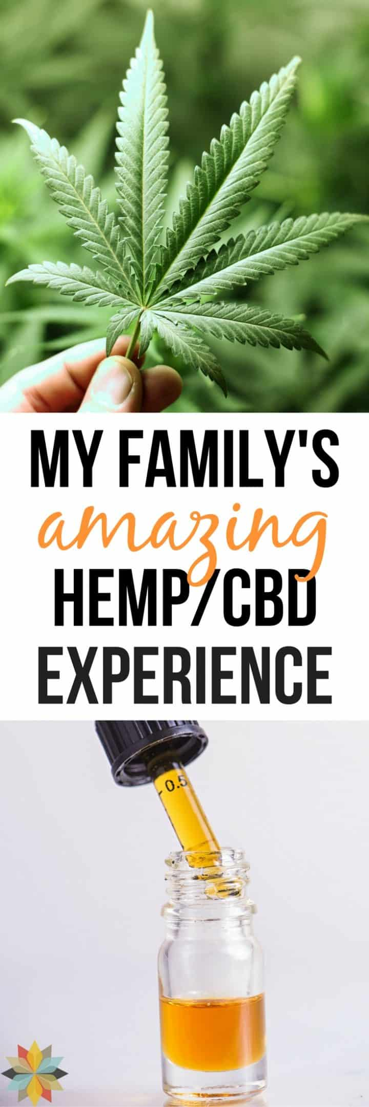 CBD oil and hemp / marijuana leaf