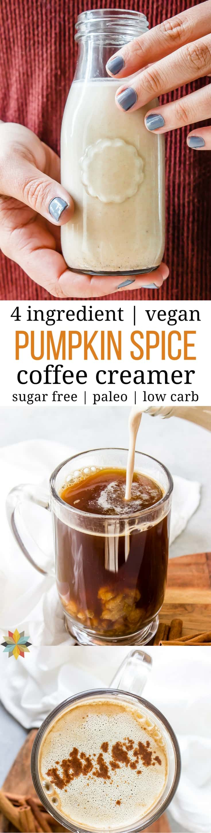 Vegan Pumpkin Coffee Creamer - dairy-free, paleo, THM:S, healthy, easy, low-carb, AIP, keto