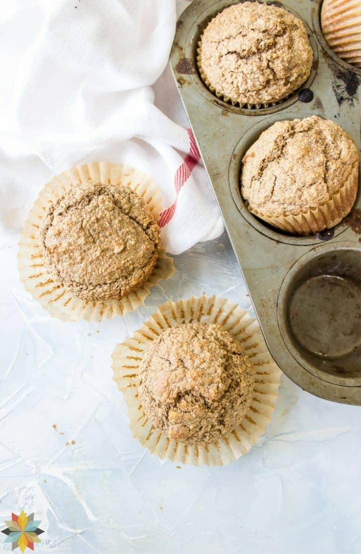 Oat Bran Muffins with muffin tin