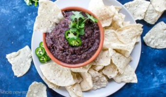 Vegan Black Bean Dip - gluten-free, healthy, easy, whole30, dairy-free, low fat