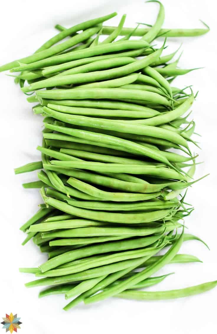 Green Beans for Healthy Green Bean Casserole - vegan, gluten free, paleo, GAPS, dairy free, THM