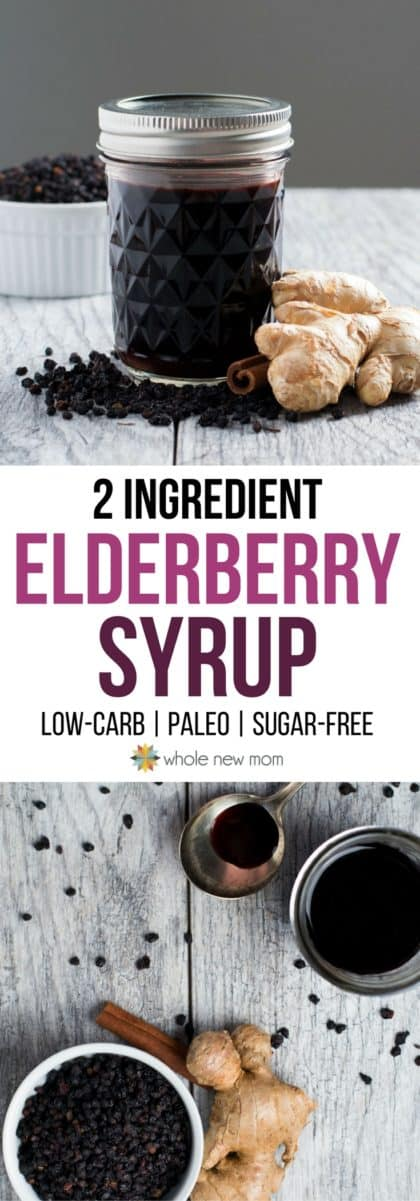 Low-Carb Elderberry Syrup - Homemade, sugar-free, healthy, easy