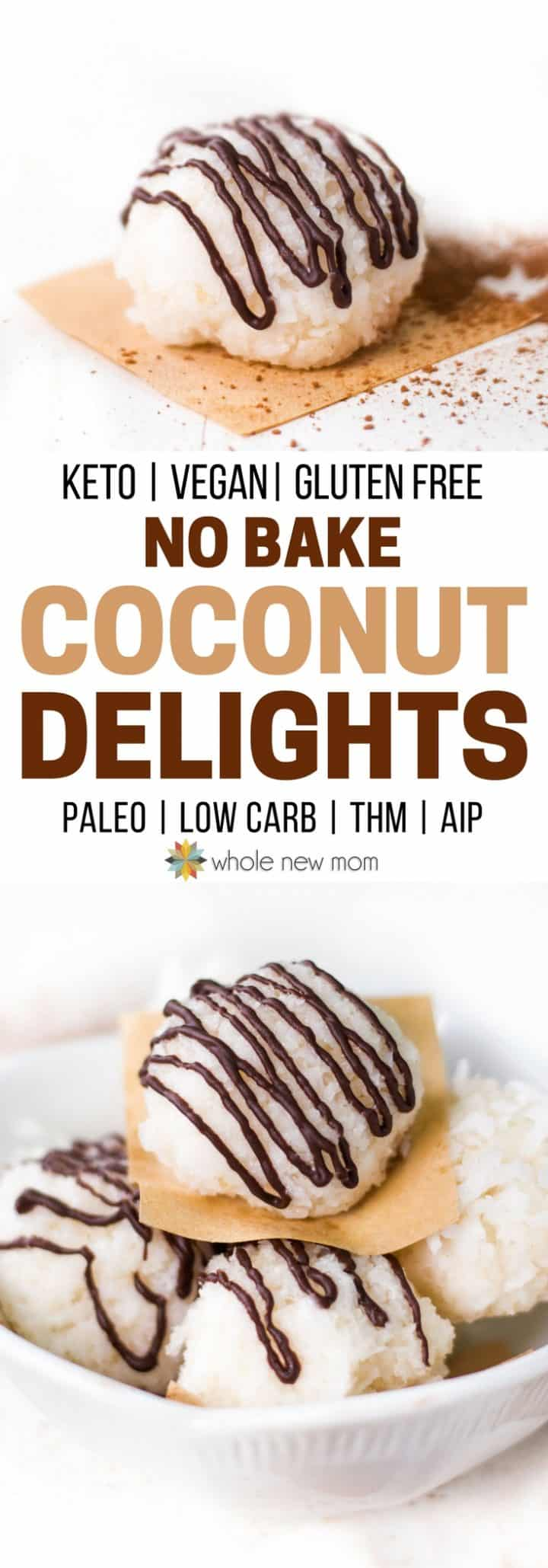 No Bake Coconut Cookies - keto, low carb, paleo, gluten free, AIP, THM