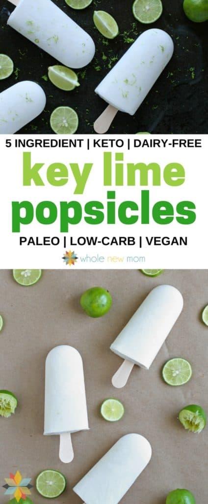 Key Lime Popsicles - vegan, dairy-free, paleo, AIP, keto