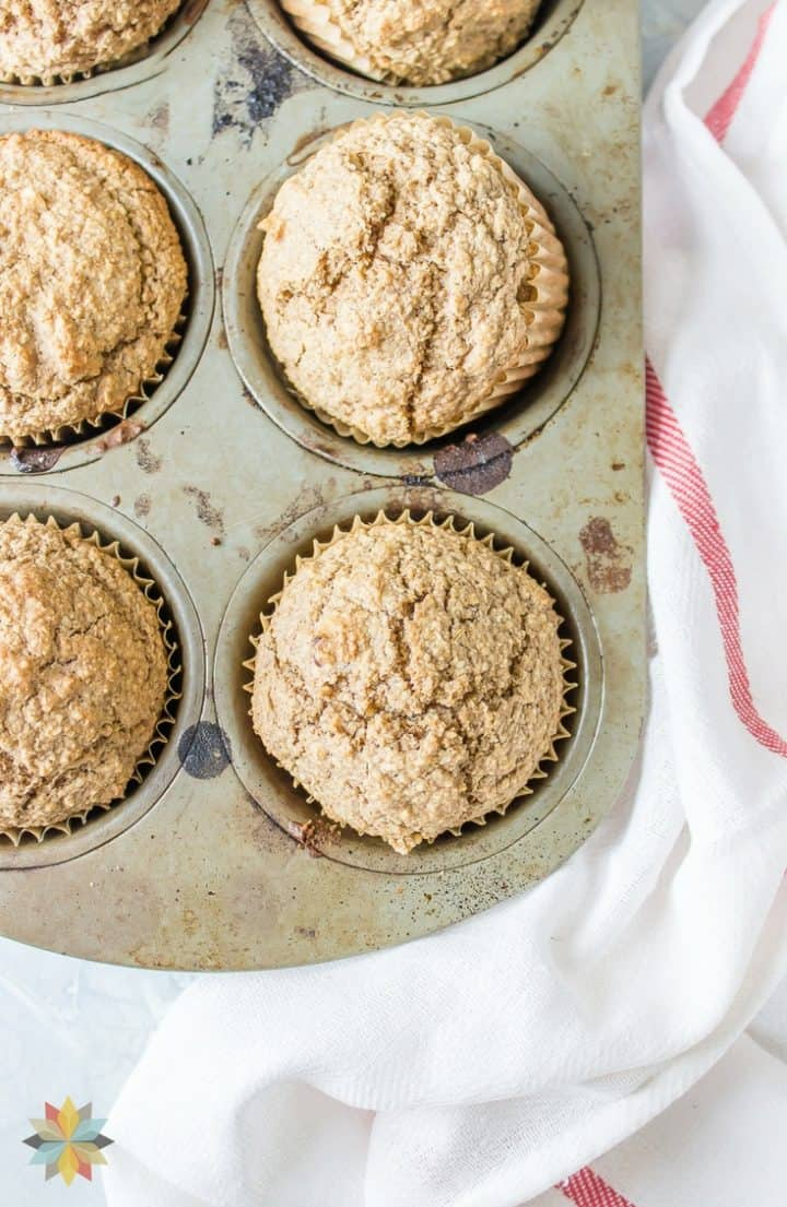 Oat Bran Muffins in muffin tin