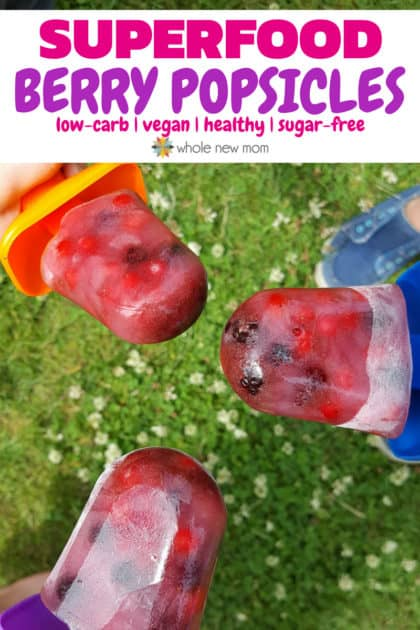 Superfood Berry Popsicles