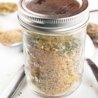 Vegetable Broth Powder in a jar