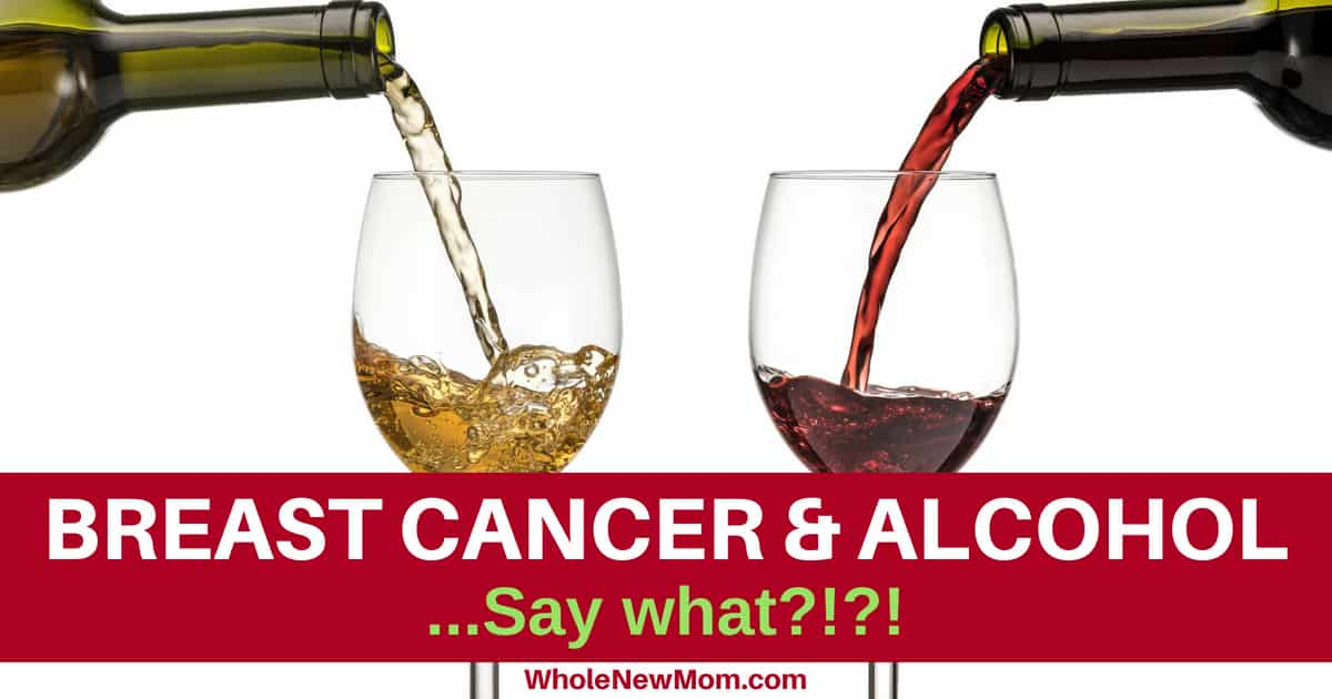 Alcohol and Breast Cancer - pouring wine into glasses