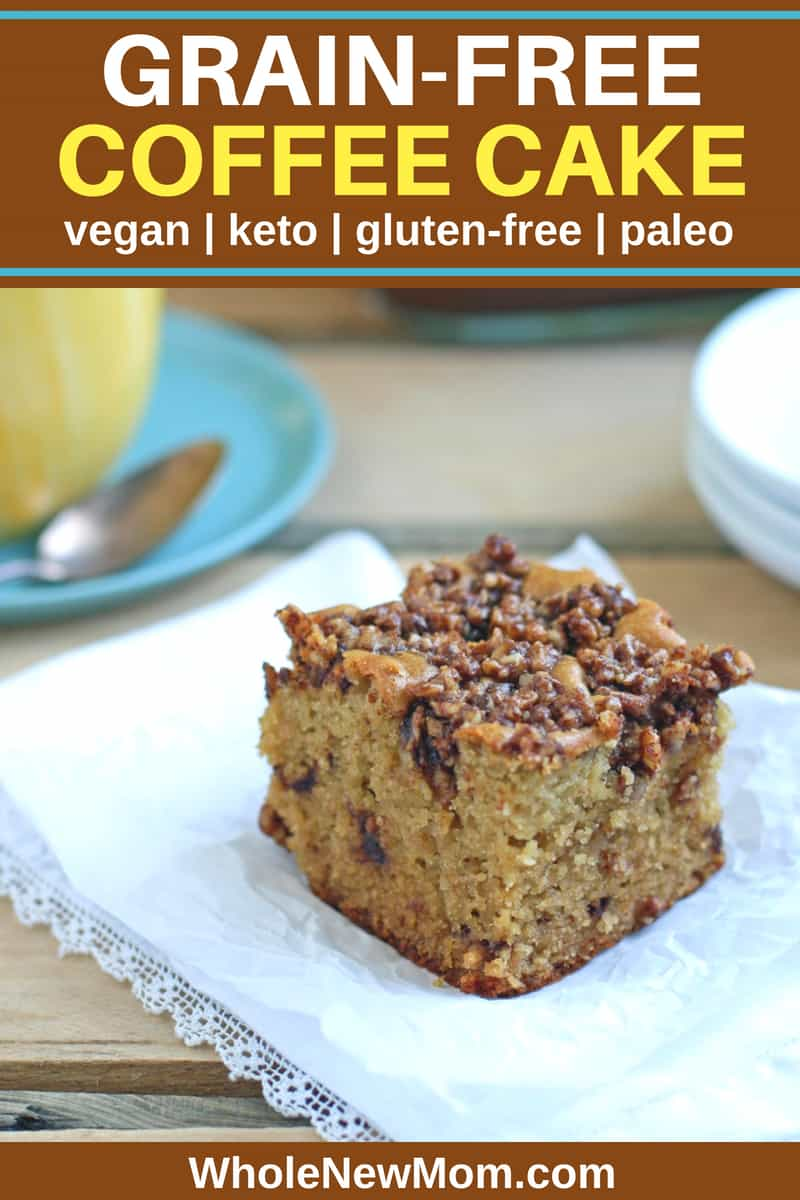 This Paleo Coffee Cake is grain-free and has vegan and low-carb options and is sooo delish it'll be gone in a flash!. #THM #keto #paleo #sugarfree