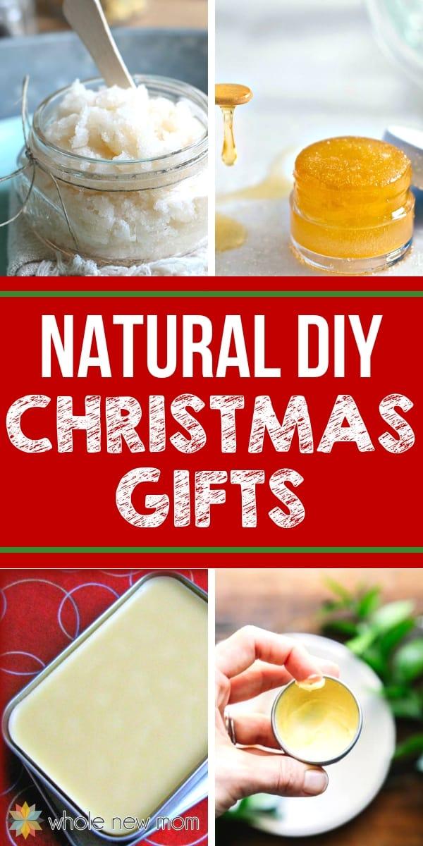 diy christmas gifts - homemade scrub, lip scrub, lip balm, and lotion bar