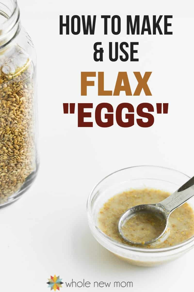 vegan flax egg in small glass bowl with metal measuring spoon