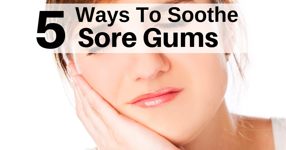 woman with sore gums