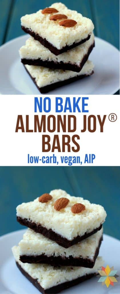 Almond Joy Bars - No Bake & Healthy (low-carb, AIP) | Whole