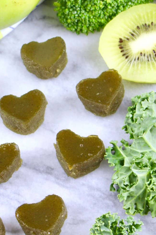 Healthy Homemade Green Gummy Snacks