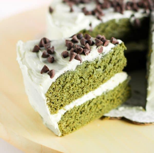 Healthy Green Velvet Cake