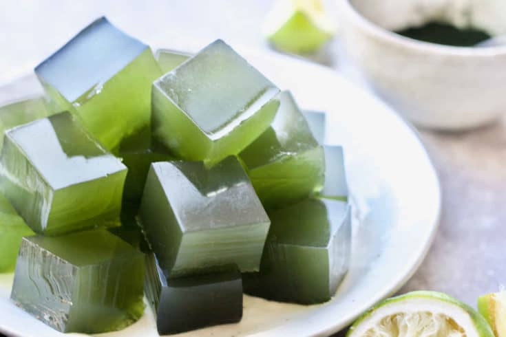 Healthy Limeade Gelatin (GAPS, Paleo)