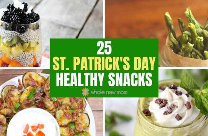 St Patrick's Day Snacks - Irish nachos, Chocolate Mint Smoothie, Rainbow Chia Pudding and Green Bean Chips