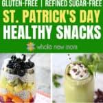 St Patrick's Day Snacks - Irish nachos, Chocolate Mint Smoothie, Rainbow Chia Pudding and Green Bean Chips, GF Irish Soda Bread